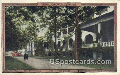 South Front - White Sulphur Springs, West Virginia WV Postcard