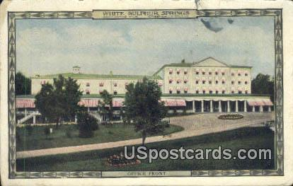 Office Front - White Sulphur Springs, West Virginia WV Postcard