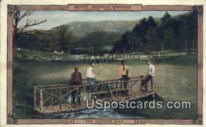 Seventh Hole - White Sulphur Springs, West Virginia WV Postcard
