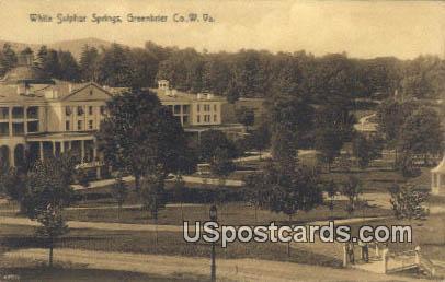 White Sulphur Springs - Greenbrier County, West Virginia WV Postcard