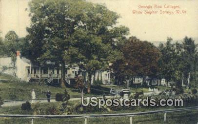 Georgia Row Cottages - White Sulphur Springs, West Virginia WV Postcard