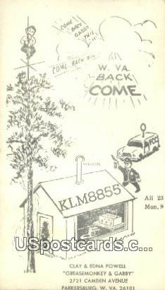 Clay & Edna Powell, Greasemonkey & Gabby - Parkersburg, West Virginia WV Postcard