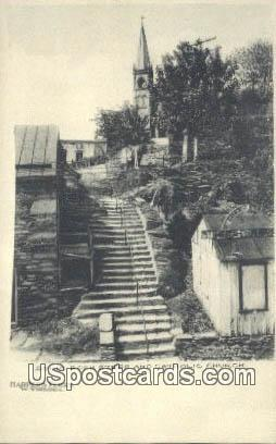 Solid Rock Steps & Catholic Church - Harpers Ferry, West Virginia WV Postcard
