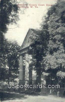 Greenbrier County Court House - Lewisburg, West Virginia WV Postcard
