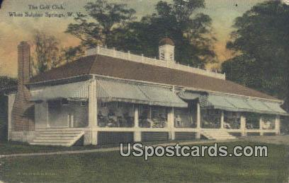 Golf Club - White Sulphur Springs, West Virginia WV Postcard