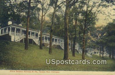 Tansus Row Cottages - White Sulphur Springs, West Virginia WV Postcard
