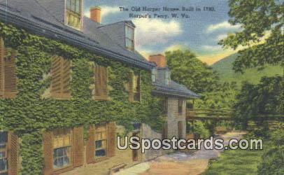 Old Harper House, 1780 - Harpers Ferry, West Virginia WV Postcard