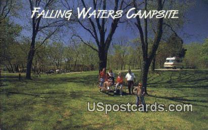 Falling Waters Campsites - Martinsburg, West Virginia WV Postcard