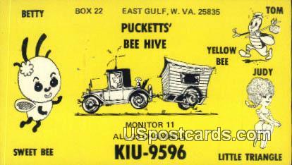 Betty, Sweet Bee, Little Triangle - East Gulf, West Virginia WV Postcard