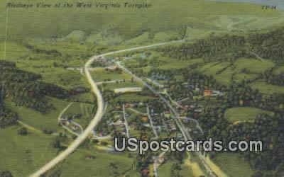 West Virginia Turnpike, West Virginia Postcard      ;      West Virginia Turnpike, WV - West Virginia Turnpike Postcards