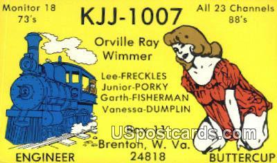 Engineer, Buttercup - Brenton, West Virginia WV Postcard