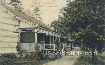 Florida Row Cottages - White Sulphur Springs, West Virginia WV Postcard