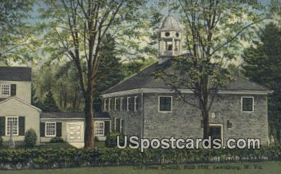 Old Stone Church 1796 - Lewisburg, West Virginia WV Postcard