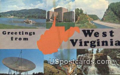 Ohio River - West Virginia Turnpike Postcards, West Virginia WV Postcard