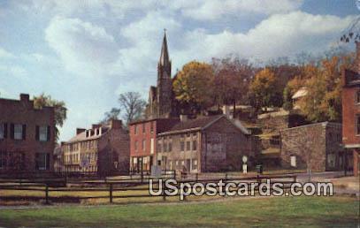 Shenandoah Street, Old US Armory Yard - Harpers Ferry, West Virginia WV Postcard