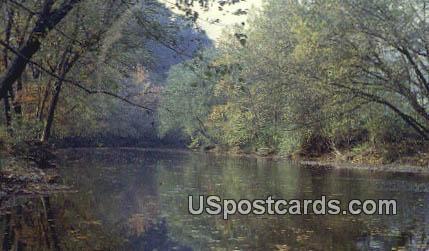 Big Coal River - Boone County, West Virginia WV Postcard