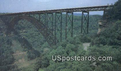 New River Gorge Bridge - Fayette County, West Virginia WV Postcard