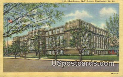 Huntington High School - West Virginia WV Postcard