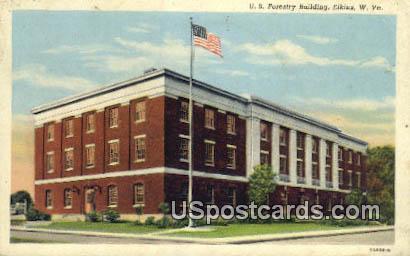 US Forestry Building - Elkins, West Virginia WV Postcard