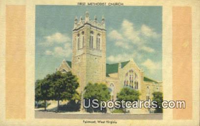 First Methodist Church - Fairmont, West Virginia WV Postcard
