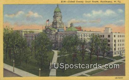 Cabell County Court House - Huntington, West Virginia WV Postcard