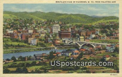 Palatine Nob - Fairmont, West Virginia WV Postcard