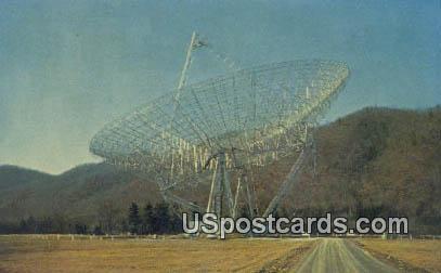 Foot Transit Radio Telescope - Green Bank, West Virginia WV Postcard