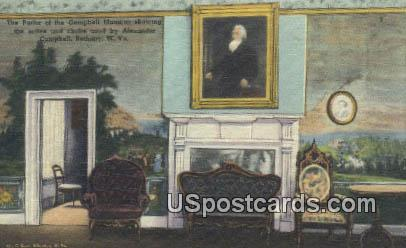 Parlor, Campbell Mansion - Bethany, West Virginia WV Postcard