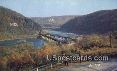 Harpers Ferry, West Virginia Postcard      ;      Harpers Ferry, WV