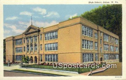 High School - Logan, West Virginia WV Postcard