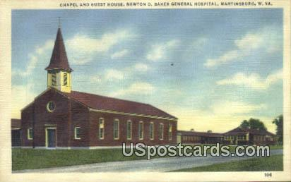 Chapel & Guest House - Martinsburg, West Virginia WV Postcard