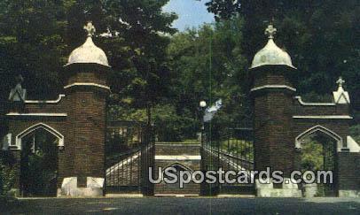 Oglebay Gates Bethany College - West Virginia WV Postcard