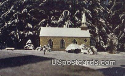Smallest Church in 48 States - Silver Lake, West Virginia WV Postcard