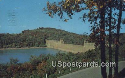 Tygart Valley River Lake & Dam - Grafton, West Virginia WV Postcard