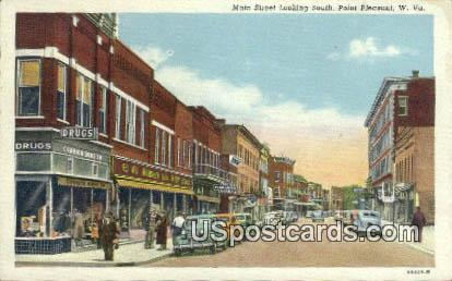 Main Street - Point Pleasant, West Virginia WV Postcard