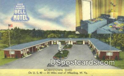 Bell Motel - Morristown, West Virginia WV Postcard