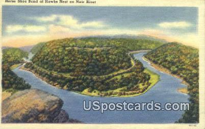 Horse Shoe Bend - Hawk's Nest State Park, West Virginia WV Postcard