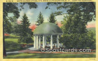 White Sulphur Springs, WV Postcard      ;      White Sulphur Springs, West Virginia