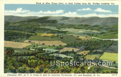 Blue Grass Trail - Bluefield, West Virginia WV Postcard
