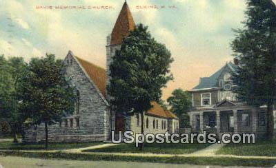 Davis Memorial Church - Elkins, West Virginia WV Postcard