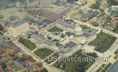 Capitol & Office Building - Charleston, West Virginia WV Postcard