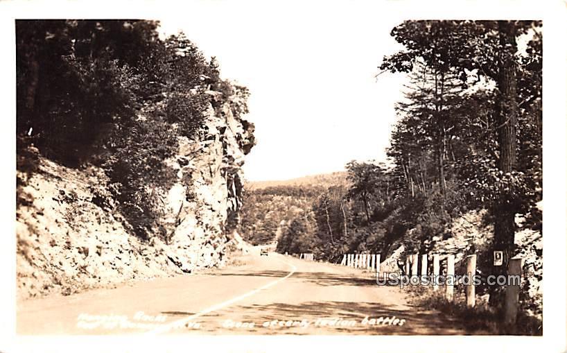 Hanging Rocks, Romance - West Virginia WV Postcard