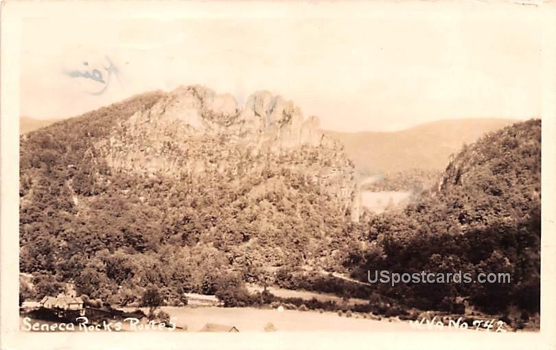 Seneca Rocks Route 5 - West Virginia WV Postcard