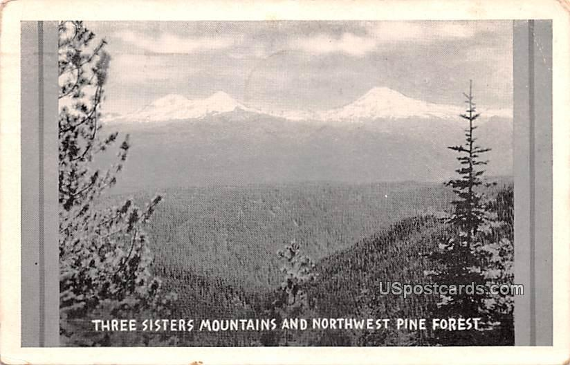 Three Sisters Mountain and Northwest Pine Forest - Three Sisters Mountains, West Virginia WV Postcard