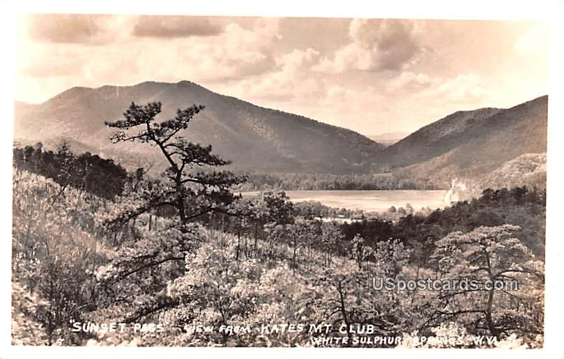 Sunset Pass - White Sulphur Springs, West Virginia WV Postcard