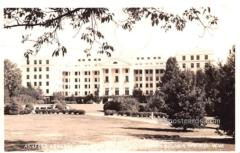 Ashford General Hospital - White Sulphur Springs, West Virginia WV Postcard