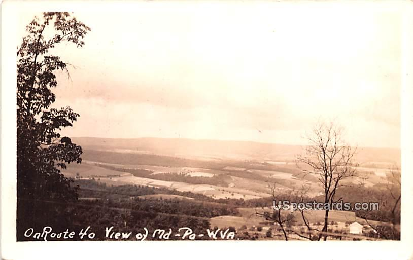 On Route 40 - Weirton, West Virginia WV Postcard