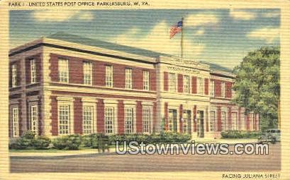 US Post Office - Parkersburg, West Virginia WV Postcard