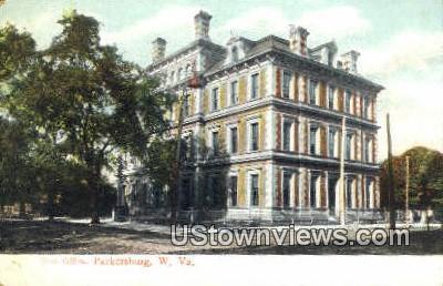 Post Office - Parkersburg, West Virginia WV Postcard
