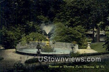 Fountain, Wheeling Park - West Virginia WV Postcard
